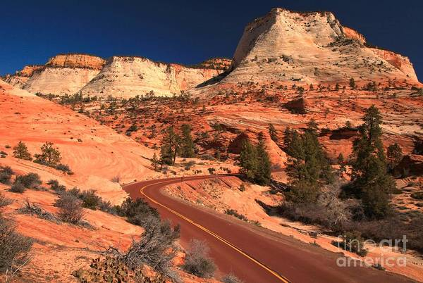 Photograph - Zion Mt Carmel Highway by Adam Jewell