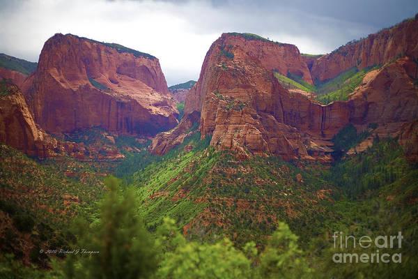 Photograph - Zion National Park by Richard J Thompson