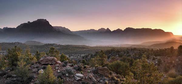 Photograph - Zion Sunrise by Leland D Howard