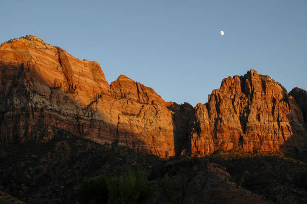 Photograph - Zion Sunset Moonrise 3 by Lee Kirchhevel