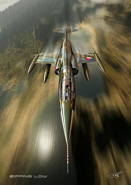 Cockpit Digital Art - Zipping Low by Peter Van Stigt