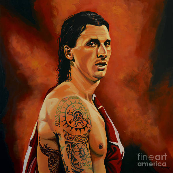 Arena Wall Art - Painting - Zlatan Ibrahimovic Painting by Paul Meijering