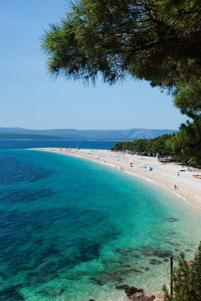 Wall Art - Photograph - Zlatni Rat Beach With Hvar Island by Panoramic Images