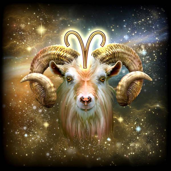 Zodiac Wall Art - Painting - Zodiac Aries by MGL Meiklejohn Graphics Licensing