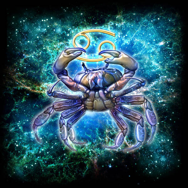 Zodiac Wall Art - Painting - Zodiac Cancer by MGL Meiklejohn Graphics Licensing