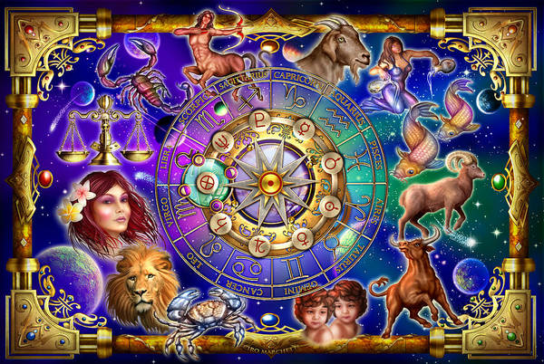 Seer Wall Art - Digital Art - Zodiac by MGL Meiklejohn Graphics Licensing