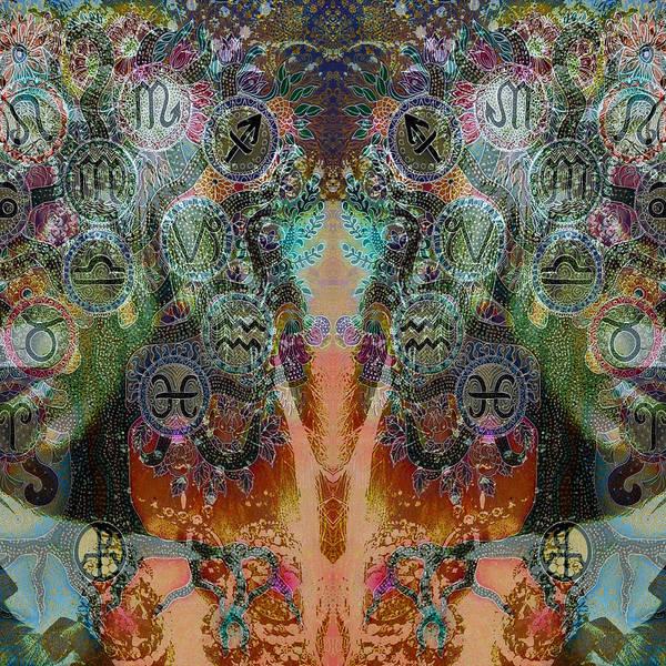 Mixed Media - Zodiac by Ellie Perla