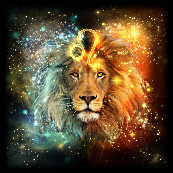 Constellation Painting - Zodiac Leo by MGL Meiklejohn Graphics Licensing