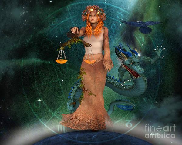 Digital Art - Zodiac Sign by Jutta Maria Pusl