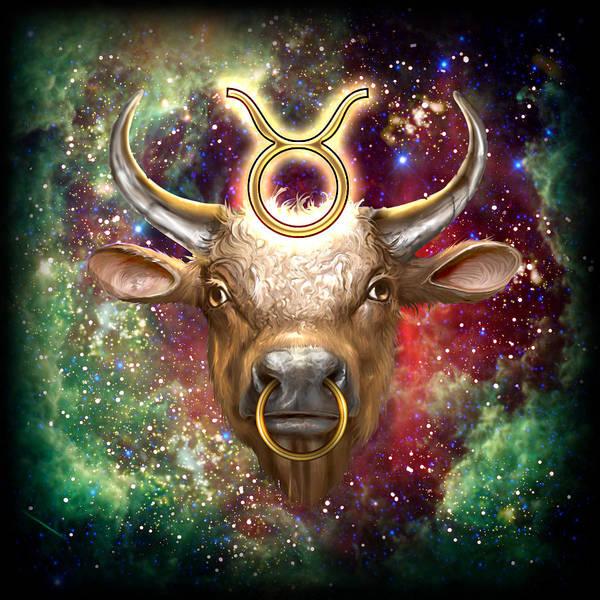 Zodiac Wall Art - Painting - Zodiac Tauro by MGL Meiklejohn Graphics Licensing