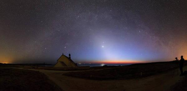 Chapelle Photograph - Zodiacal Light Over Chapel by Laurent Laveder