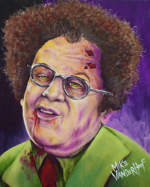 The Walking Dead Painting - Zombie Dr. Steve Brule by Michael Vanderhoof