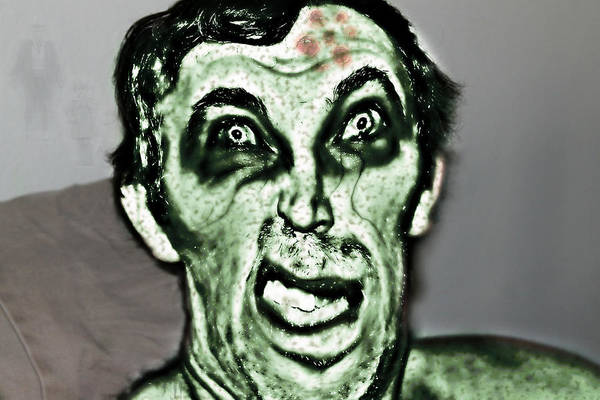 Photograph - Zombie Man by Rebecca Frank