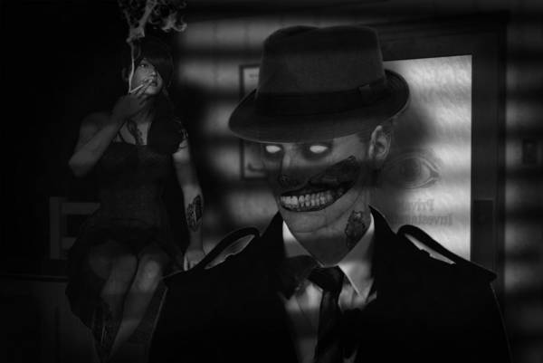 Bogart Digital Art - Zombie Noir by Dirt Road Cowboy Dean Mastern