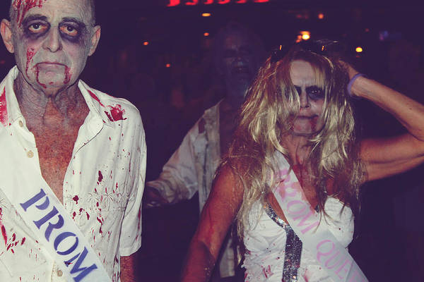 Palm Springs Photograph - Zombie Prom King And Queen by Laurie Search