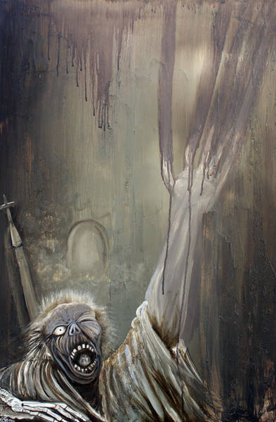 Wall Art - Painting - Zombie Rising by Laura Barbosa