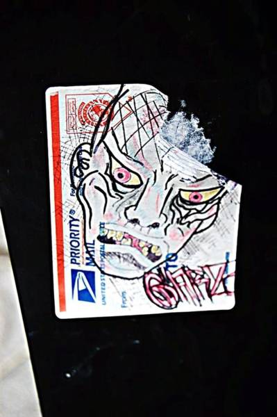The Undead Photograph - Zombie Sticker Graffiti  by Heart On Sleeve ART
