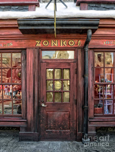 Potter Wall Art - Photograph - Zonkos Joke Shop Hogsmeade by Edward Fielding