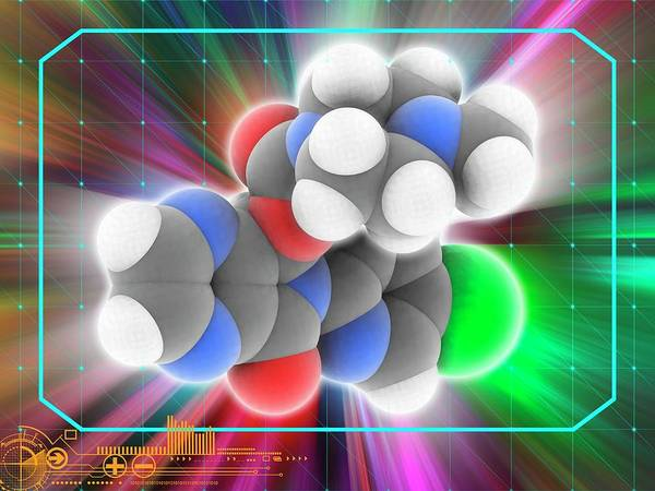Wall Art - Photograph - Zopiclone Drug Molecule by Laguna Design/science Photo Library