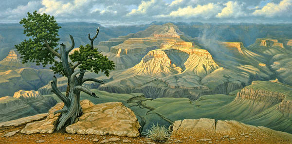 Canyon Painting - Zoroaster Temple From Yaki Point by Paul Krapf