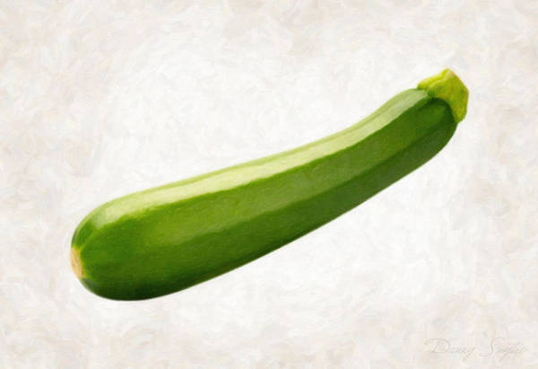 Wall Art - Painting - Zucchini  by Danny Smythe