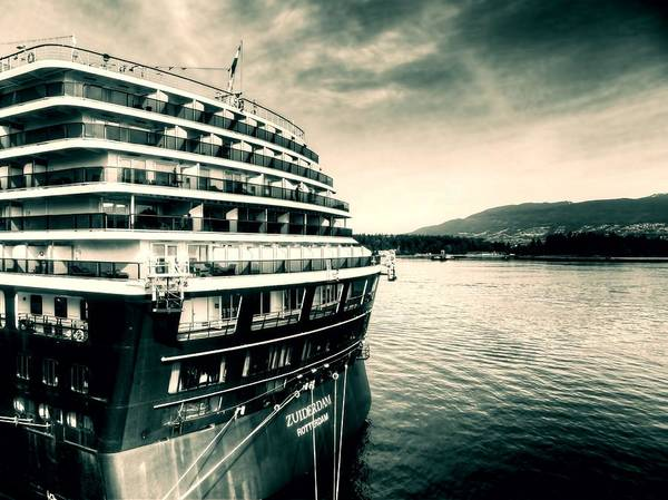 Holland America Line Wall Art - Photograph - Zuiderdam Rotterdam Cruise Ship by Carol Cottrell
