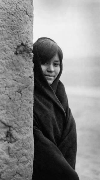 Indigenous Wall Art - Photograph - Zuni Indian Girl Circa 1903 by Aged Pixel