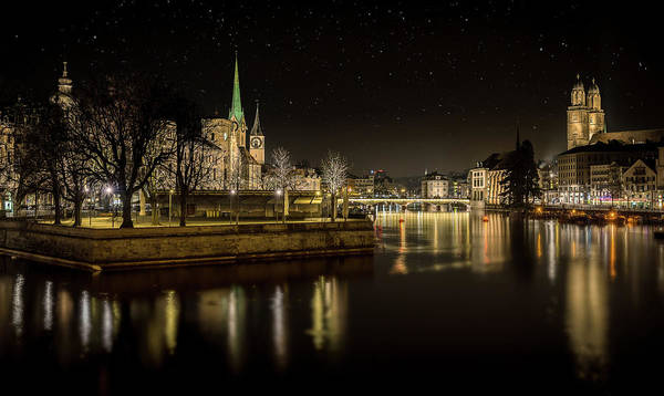 Cathedral Photograph - Zurich by Petros Mitropoulos