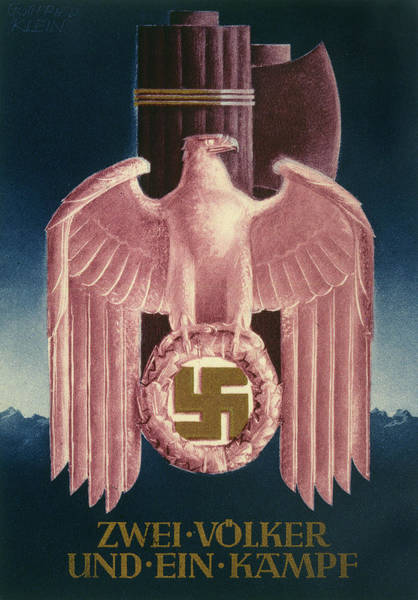 Wall Art - Drawing - 'zwei Volker Und Ein Kampf' (two by Mary Evans Picture Library