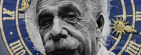 Skeptic Wall Art - Painting - Zytgloggenrichter- Albert Einstein by Simon Kregar