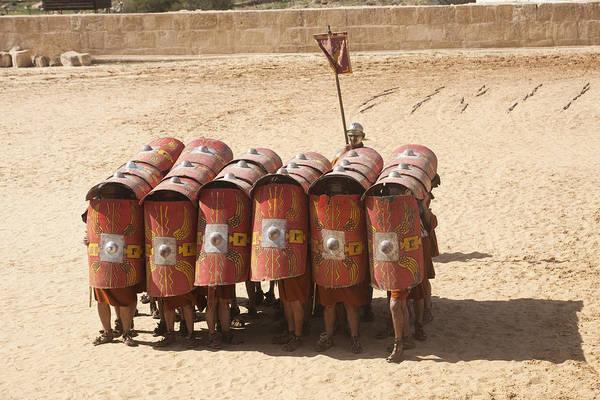 Jerash Photograph -  Actors Re-enact A Roman Legionaries by Taylor S. Kennedy