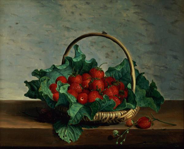 Basket Of Strawberries Art Print