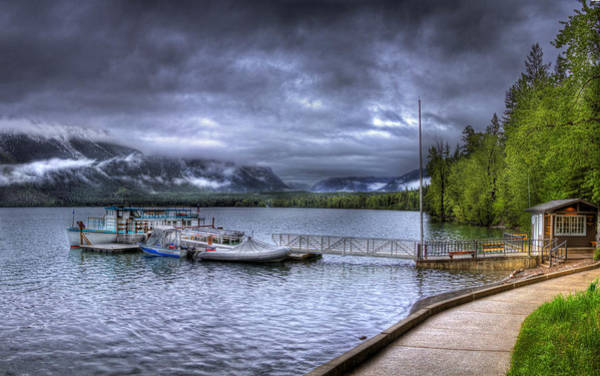 Photograph -  Boat Dock At Sperry Chalet by Lee Santa