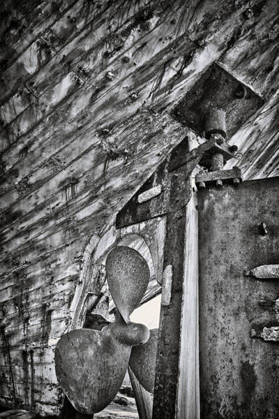 Dry Dock Photograph -  Boat Propeller by Stelios Kleanthous