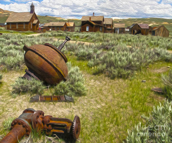 Painting -  Bodie Ghost Town - 01 by Gregory Dyer