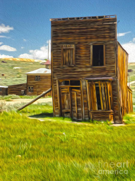 Painting -  Bodie Ghost Town - Bent House 02 by Gregory Dyer