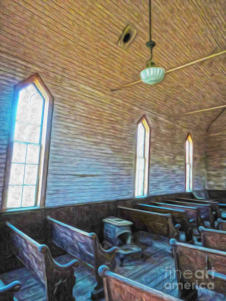 Painting -  Bodie Ghost Town - Church 05 by Gregory Dyer