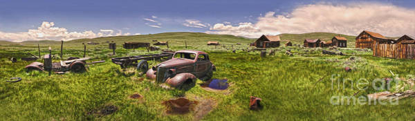 Painting -  Bodie Ghost Town Panorama 01 by Gregory Dyer