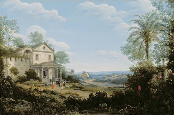 Central America Painting -  Brazilian Landscape by Frans Jansz Post