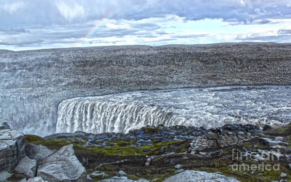 Photograph -  Detifoss Waterfall In Iceland - 01 by Gregory Dyer