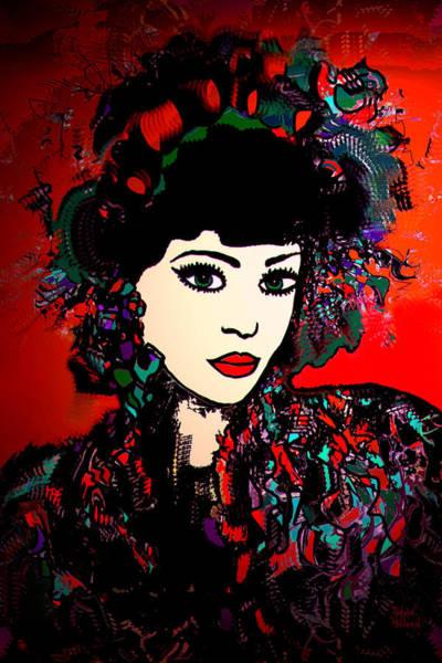 Geisha Mixed Media -  Geisha Girl by Natalie Holland