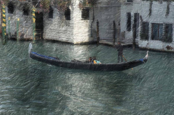 Wall Art - Painting -  Gondola In Venice Italy Digital Oil Painting by Heinz G Mielke