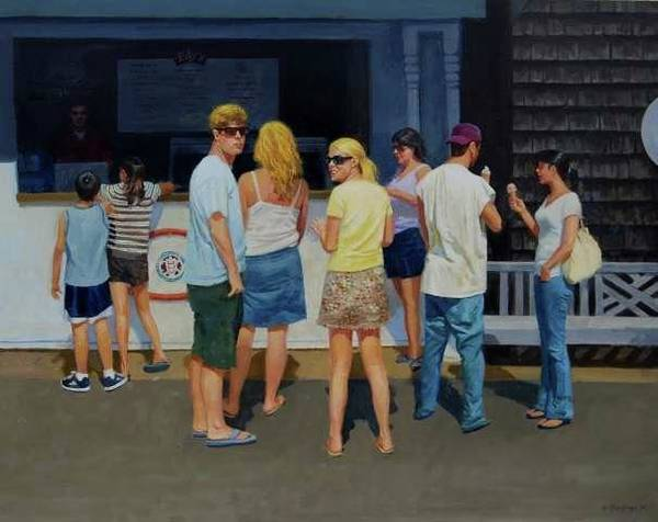 Painting -  Ice Cream Stand by Mel Greifinger