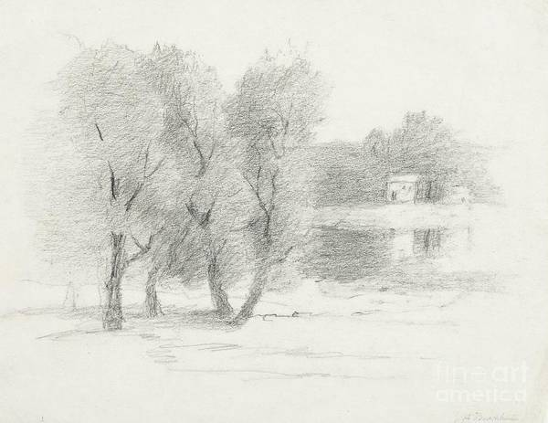 Early 20th Century Drawing -  Landscape - Late 19th-early 20th Century by John Henry Twachtman