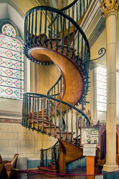 Loretto Chapel Photograph -  Loretto Chapel Staircase by Anna Rumiantseva