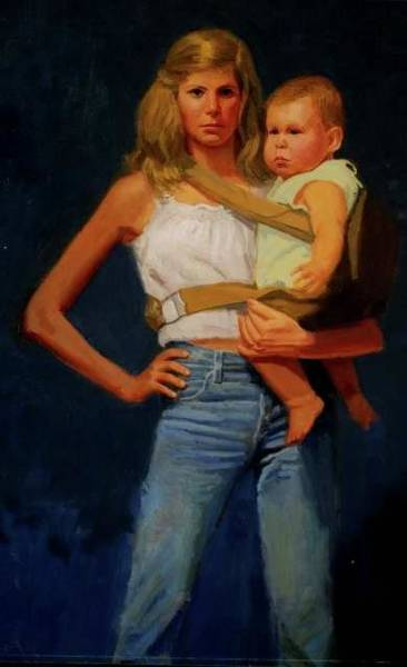 Painting -   Mother And Child by Mel Greifinger