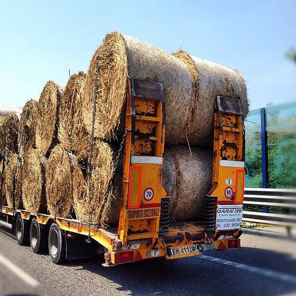 Vehicle Photograph - 😄📷 Moving Shot 🇮🇹 Bales Of by Nancy Nancy