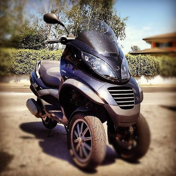 Vehicle Photograph - 🇮🇹 Our 3 Wheels Scooter☝😁 by Nancy Nancy