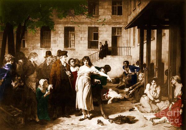 Photograph -  Pitie-salpetriere Hospital, 1795 by Photo Researchers