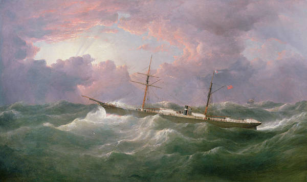 Wall Art - Painting -  Portrait Of The Lsis A Steam And Sail Ship by Samuel Walters